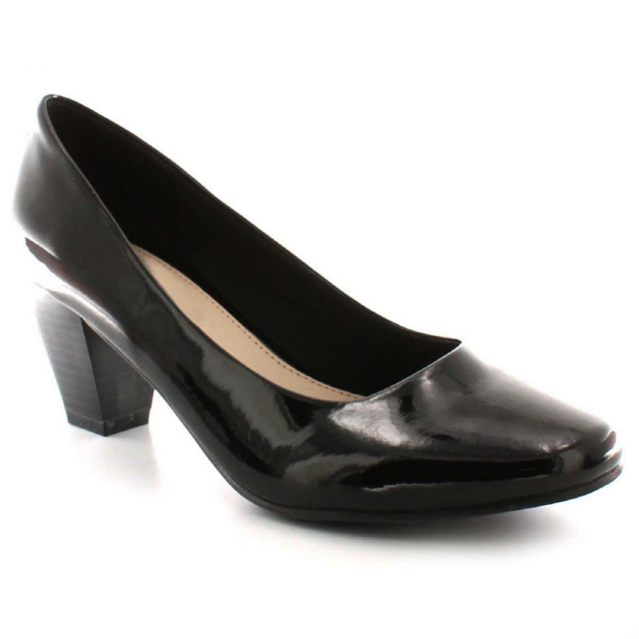 Women's court shoes-black-patent