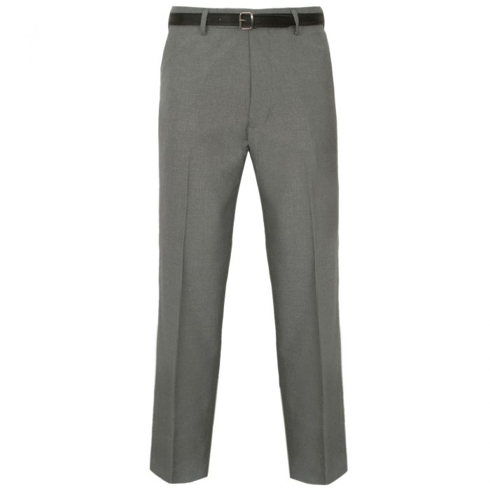 MENS TROUSERS OFFICE BUSINESS WORK FORMAL CASUAL SMART BELT POCKET BIG PLUS SIZE-light-grey