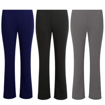 2 PACK LADIES BOOTLEG TROUSERS