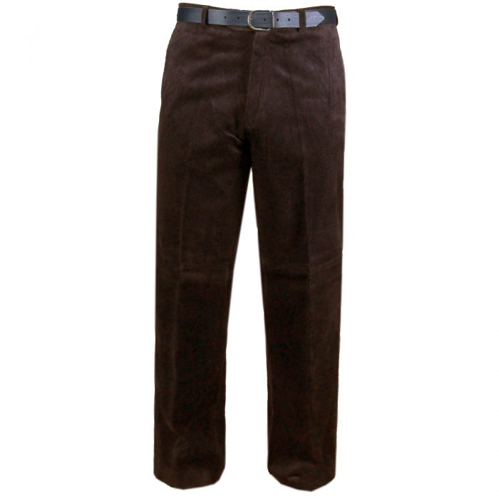 NEW MENS CORD CORDUROY TROUSERS COTTON FORMAL CASUAL BIG PLUS BELT POCKET PANTS-corduory pants brown