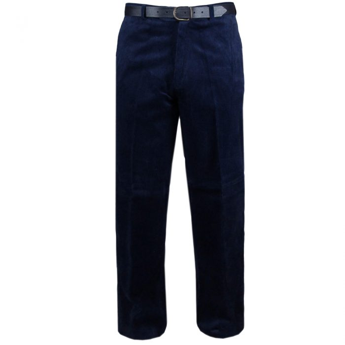 NEW MENS CORD CORDUROY TROUSERS COTTON FORMAL CASUAL BIG PLUS BELT POCKET PANTS-corduory pants navy blue