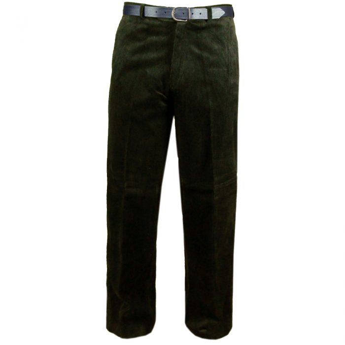 NEW MENS CORD CORDUROY TROUSERS COTTON FORMAL CASUAL BIG PLUS BELT POCKET PANTS-corduory-corduory pants olive
