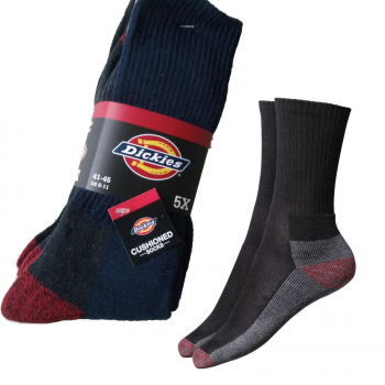 5 PAIR OF DICKIES CREW WORK SOCKS