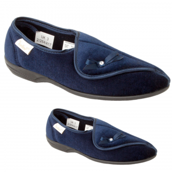 Dr Keller Ladies Slippers Navy