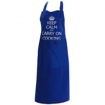 KEEP CALM & CARRY ON COOKING NAVY APRON