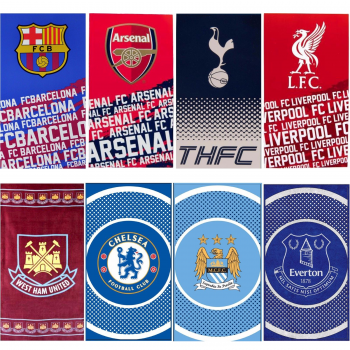 OFFICIAL FOOTBALL CLUB TEAM TOWELS