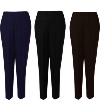 NEW LADIES WOOL TOUCH TROUSERS