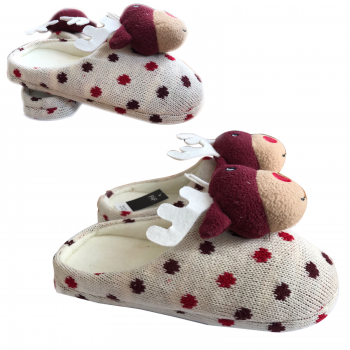 LADIES WOMEN CHRISTMAS SLIPPERS