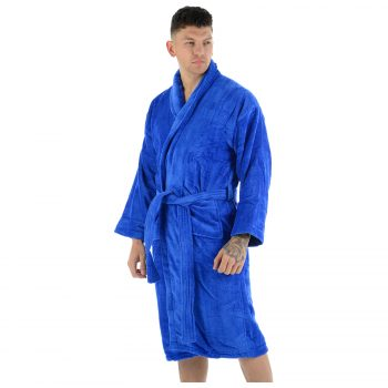 Velour Bath Robe Blue 2